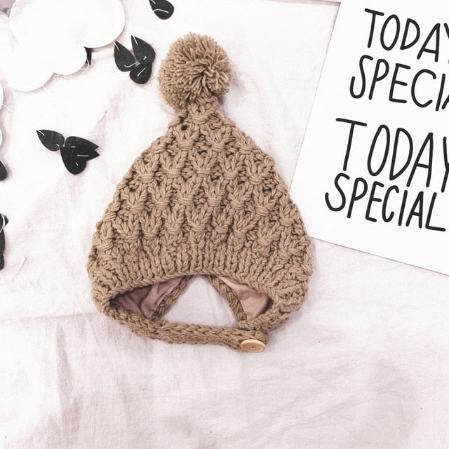 Knitted Wool Hat - 5 colors