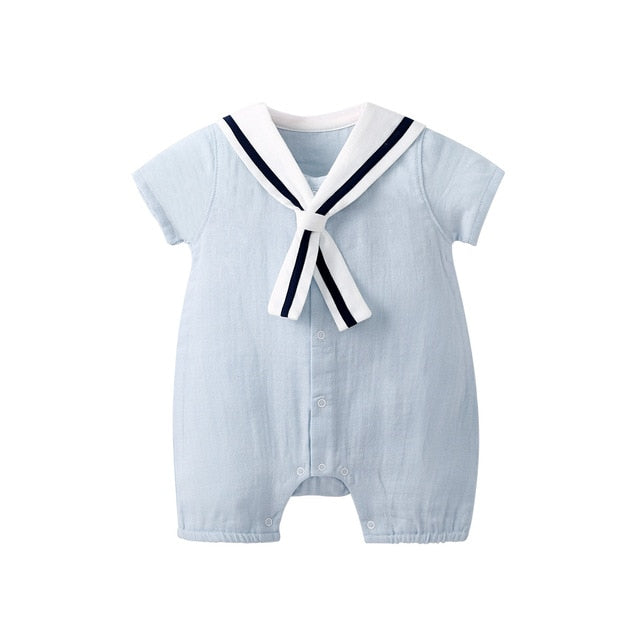 Jumpsuit with Sailor Collar - 3 Colors