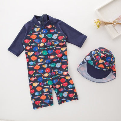 Swimwear with Hat 2 pieces - Navy