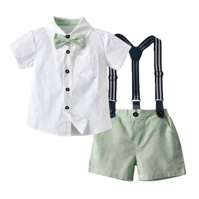 Shirt and Shorts Gentleman Set - 2 Colors