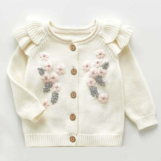Knitted Cardigan Floral