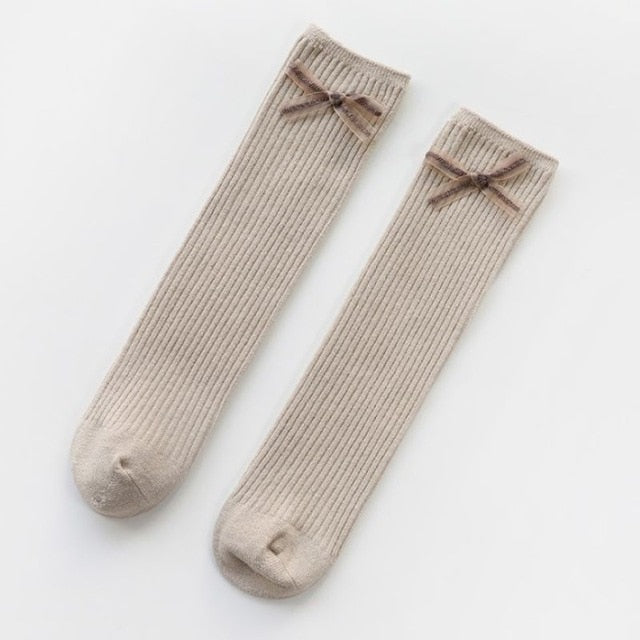 Cotton Socks Knee High - Multiple Colors