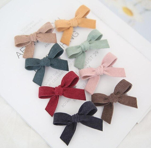 Hairclip Bow Set - 8 pieces
