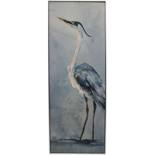 Framed Canvas Heron Tall