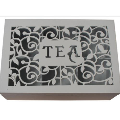 Box Tea Ornate White