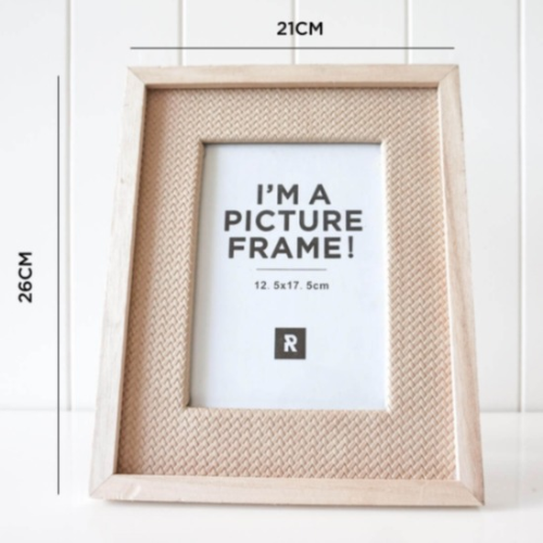 Photo Frame Coastal Rattan medium