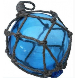 Glass Ball Rope L/Blue