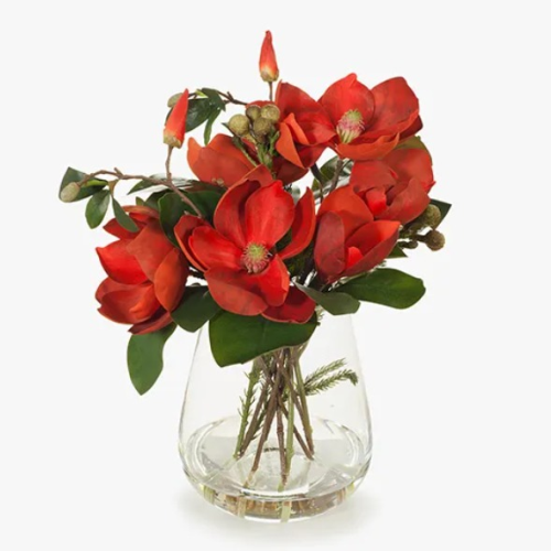 Mangnolia Mix in Vase Red