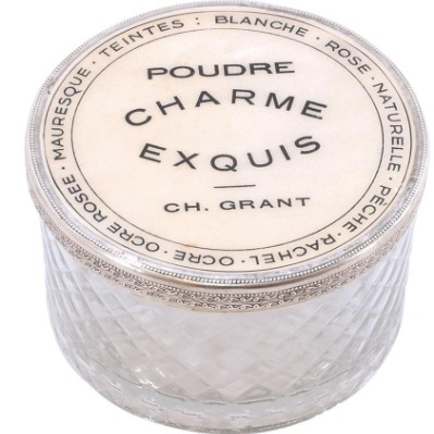 Delores Cut Glass Charme Equis Round Box