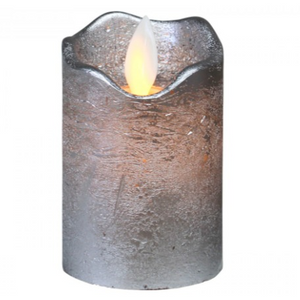 Battery Candle Silver Small