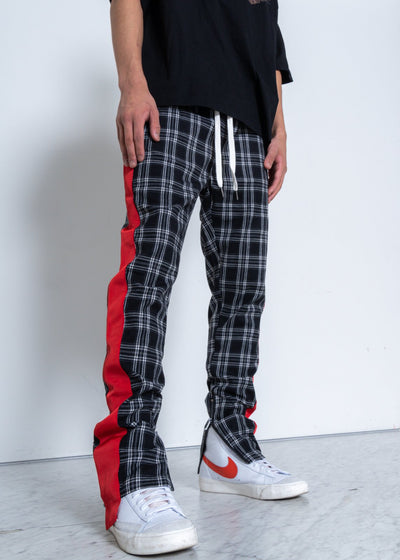 Men's Grey Plaid Pants
