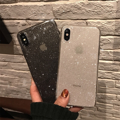 Shining Glitter Powder Black Phone Case