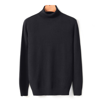 Autumn Winter Men's Warm Turtleneck Sweater