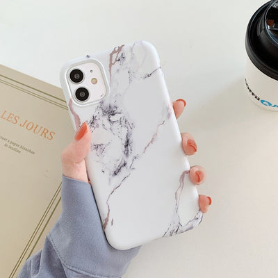 Marble Crack Matte Phone Cases