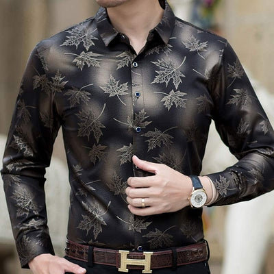 Social Long Sleeve Maple Leaf Designer Shirts