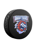 <transcy>Rondelle de hockey souvenir classique AHL Bridgeport Sound Tigers</transcy>