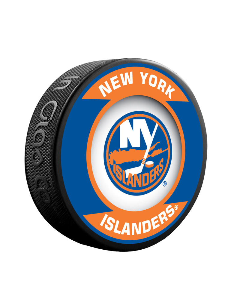 NHL New York Islanders Retro Souvenir Collector Hockey Puck