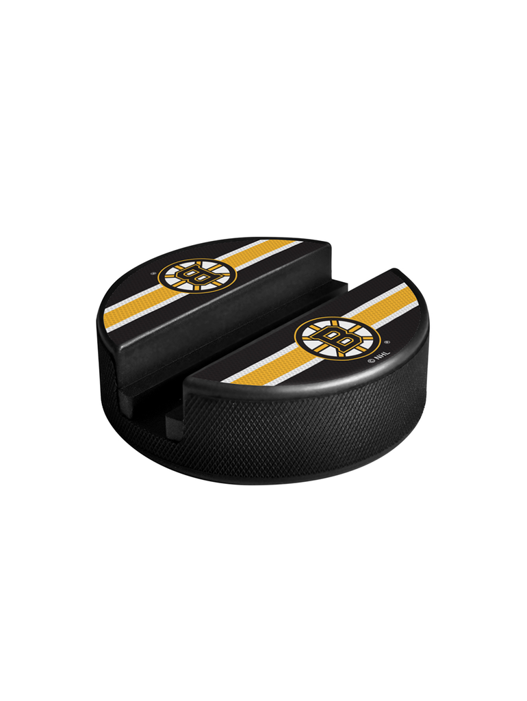 NHL Boston Bruins Hockey Puck Media Device Holder