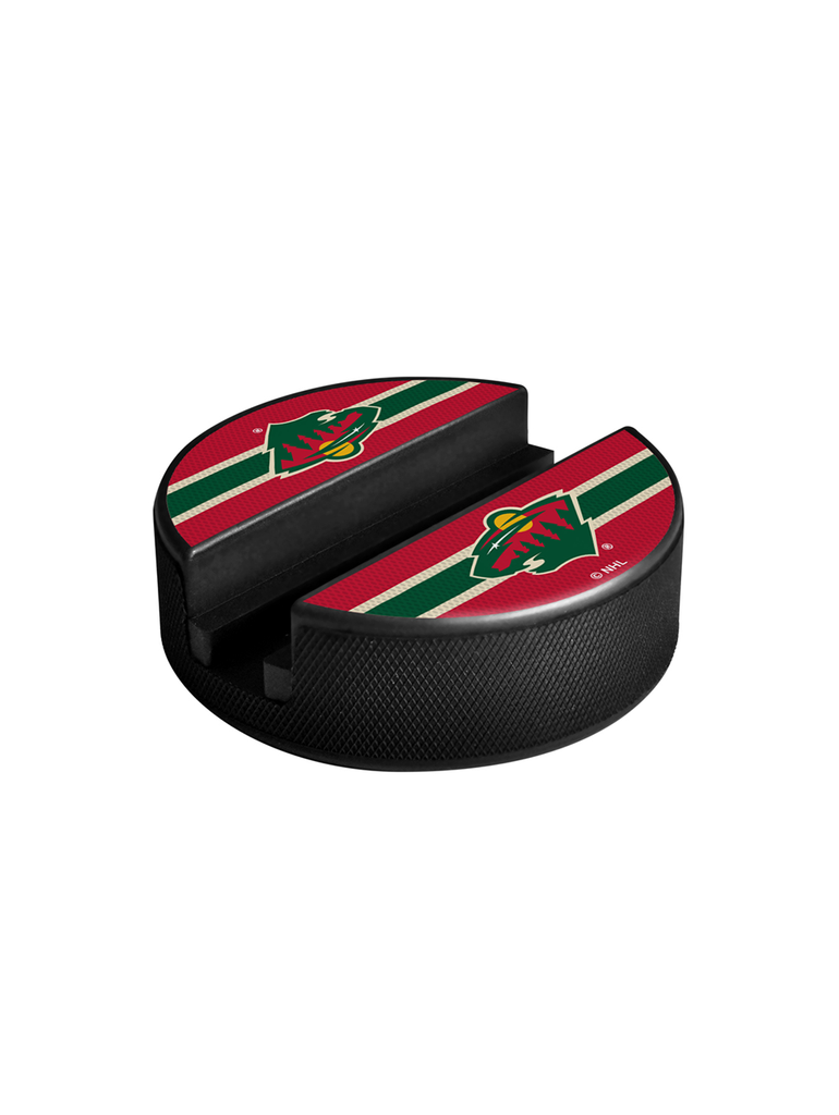 NHL Minnesota Wild Hockey Puck Media Device Holder