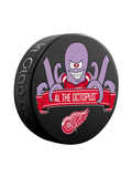 NHL Detroit Red Wings Mascot Souvenir Hockey Puck