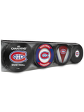 NHL Montreal Canadiens Souvenir Hockey Puck Collector's 4-Pack
