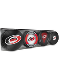 <transcy>Lot de 4 rondelles de hockey NHL Carolina Hurricanes Souvenirs</transcy>