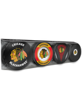 <transcy>NHL Chicago Blackhawks Souvenir Hockey Puck Lot de 4</transcy>