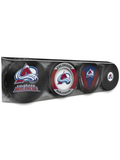 <transcy>Lot de 4 rondelles de hockey de collection NHL Colorado Avalanche Souvenir</transcy>