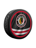 NHL Chicago Blackhawks Reverse Retro Jersey Souvenir Collector Hockey Puck
