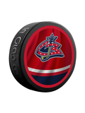 NHL Columbus Blue Jackets Reverse Retro Jersey Souvenir Collector Hockey Puck