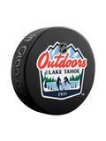 NHL Lake Tahoe Outdoor Event February 20-21 2021. Official NHL Lake Tahoe Souvenir Puck