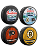 NHL Lake Tahoe Outdoor Event February 21st 2021. Flyers vs Bruins Souvenir Hockey Puck Collector's 4-Pack