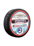 NHL Lake Tahoe Outdoor Event February 20th 2021. Colorado Avalanche Team Photo Official Souvenir Puck In Cube