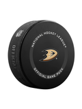 NHL Anaheim Ducks 2021 Official Game Hockey Puck In Cube - New Fan Pink