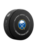 NHL Buffalo Sabres 2021 Official Game Hockey Puck In Cube - New Fan Blue