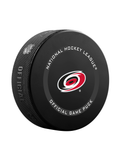 NHL Carolina Hurricanes 2021 Official Game Hockey Puck In Cube - New Fan Blue