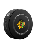 NHL Chicago Blackhawks 2021 Official Game Hockey Puck In Cube - New Fan Pink