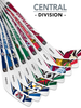NHL Central Division Player 8-Piece Mini Stick Set