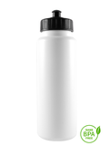 1000ml Tallboy Water Bottle With Black Pull-Top Lid