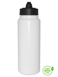 1000ml Tallboy Water Bottle With Black Membrane-Top Lid