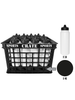 Coach Crate With Membrane-Top Bottles: Includes 1 Black Sports Crate With 40 Black Slovakian 6oz Hockey Pucks And 16 White 1L Tallboy Bottles