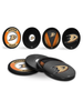 NHL Anaheim Ducks Hockey Puck Drink Coasters (4-Pack) In Cube