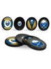 NHL Buffalo Sabres Hockey Puck Drink Coasters (4-Pack) In Cube