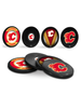 NHL Calgary Flames Hockey Puck Drink Coasters (4-Pack) In Cube
