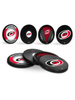 NHL Carolina Hurricanes Hockey Puck Drink Coasters (4-Pack) In Cube