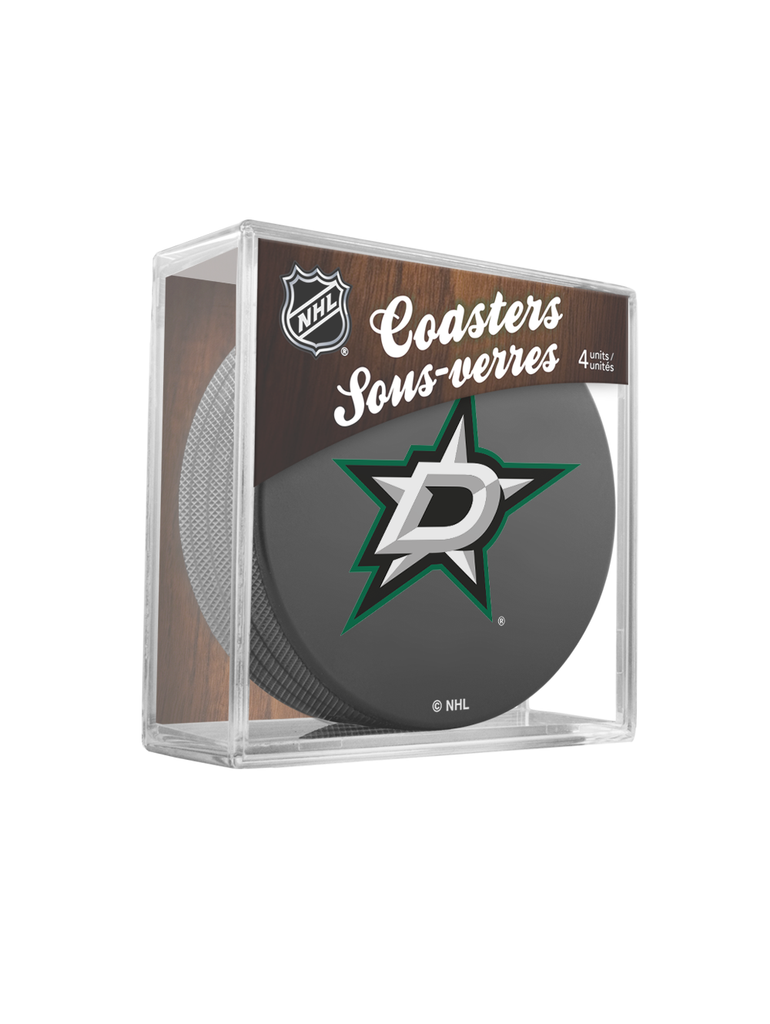 NHL Dallas Stars Hockey Puck Drink Coasters (4-Pack) In Cube