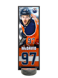 <transcy>NHLPA Connor McDavid # 97 Edmonton Oilers Ensemble de plaque décorative et porte-rondelle de hockey</transcy>