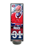 <transcy>NHLPA Carey Price # 31 Ensemble de plaque décorative et porte-rondelle de hockey Canadiens de Montréal</transcy>