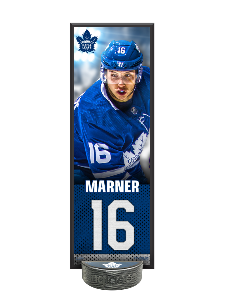 NHLPA Mitchel Marner #16 Toronto Maple Leafs Deco Plaque And Hockey Puck Holder Set