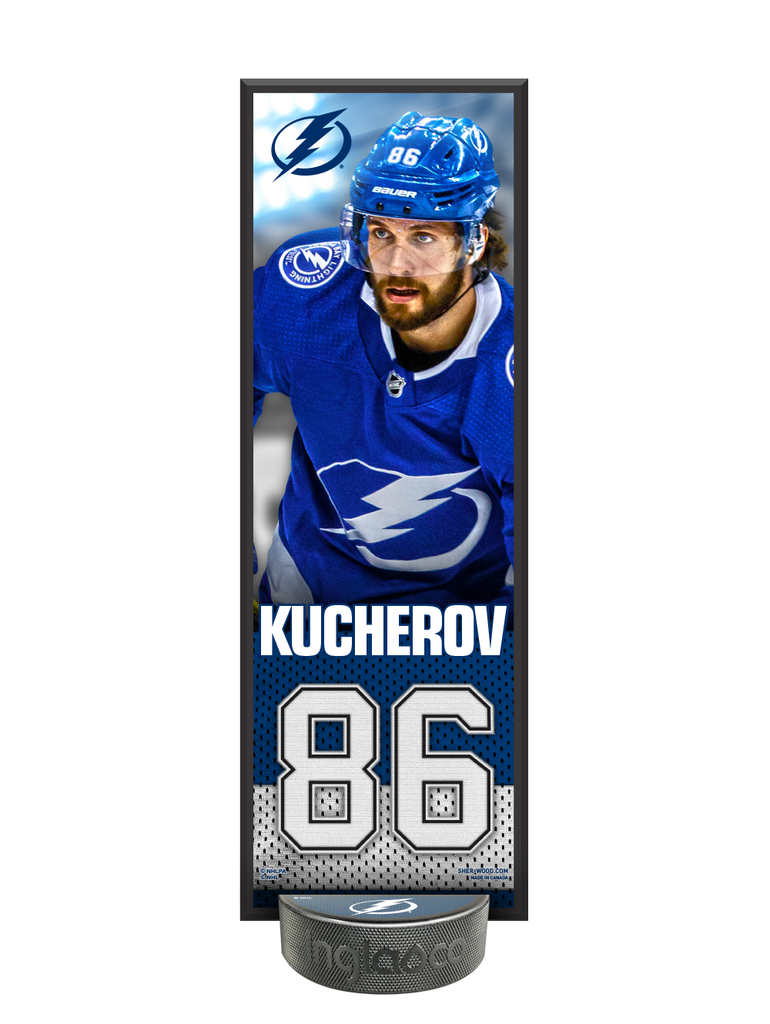 NHLPA Nikita Kucherov #86 Tampa Bay Lightning Deco Plaque And Hockey Puck Holder Set